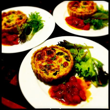 Salmon-quiches