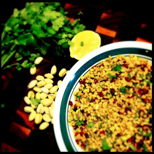 Warm-freekeh-salad